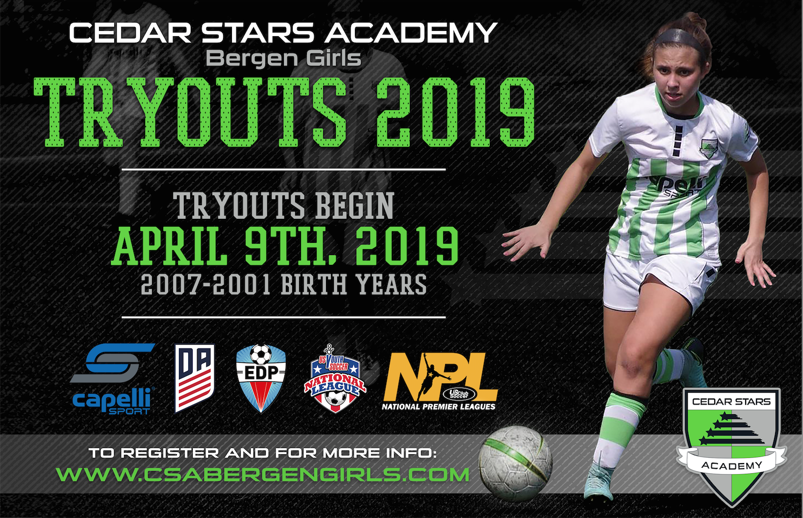 2007 - 2001 Tryouts (Fall 2019)